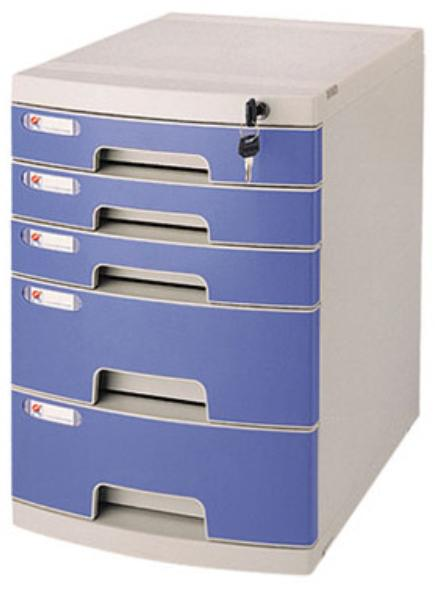 5 TIER FILING DRAWERS W/LOCK