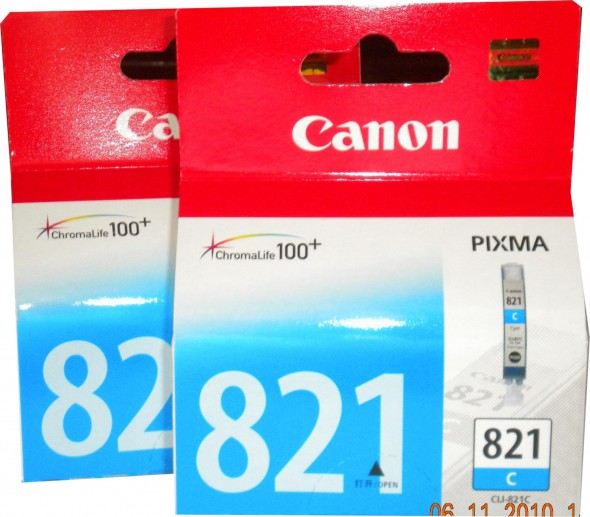CANON 821 INK CARTRIDGE CYAN