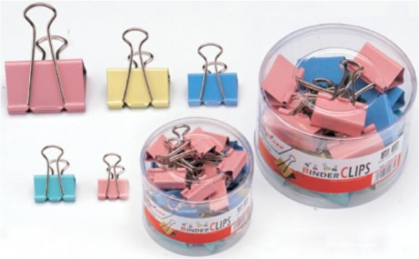 15MM BINDER CLIPS COLOR