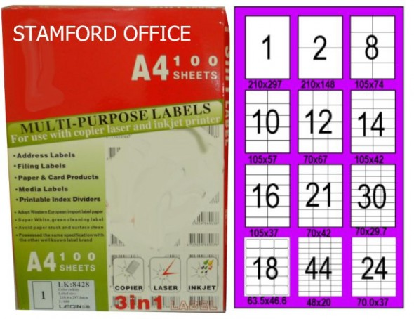 A4 INK JET LABELS