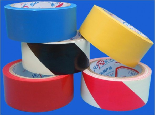 2 ins X 50M RED/WHITE TAPE