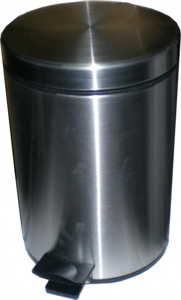 STAINLESS STEEL PEDAL BIN 12 LITRES