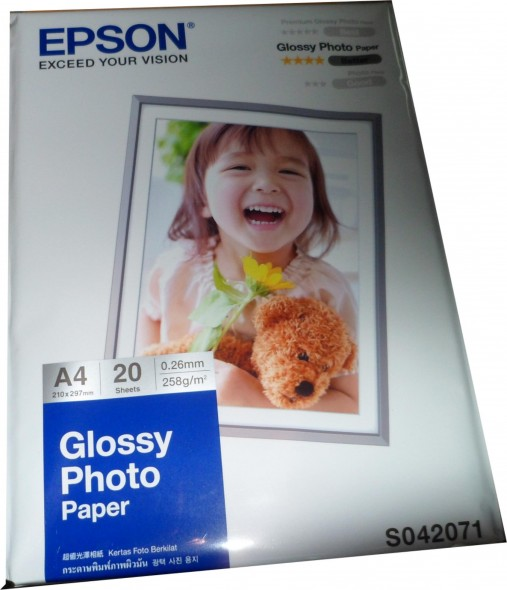 EPSON GLOSSY A4 PHOTO PAPER S042071