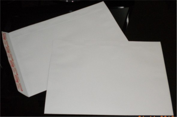 10 X 15 WHITE ENVELOPE