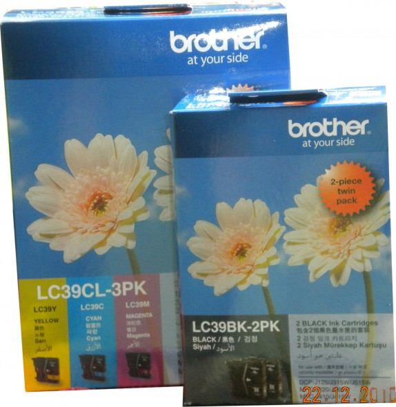 BROTHER LC39 INK CARTRIDGE YELLOW