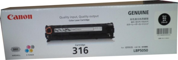 CANON 316 TONER CARTRIDGE BLACK