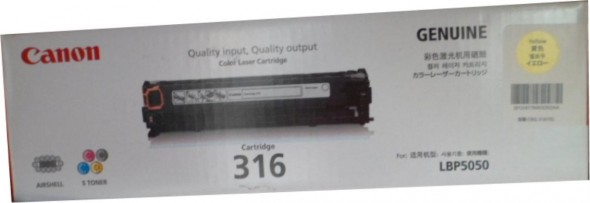 CANON 316 TONER CARTRIDGE YELLOW